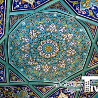 Tabriz - East Azerbaijan, Iran: Maqbaratoshoara - ceiling tiles - poets' tomb - photo by N.Mahmudova